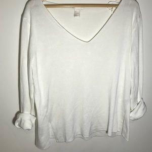 Oversized white longsleeve sweater